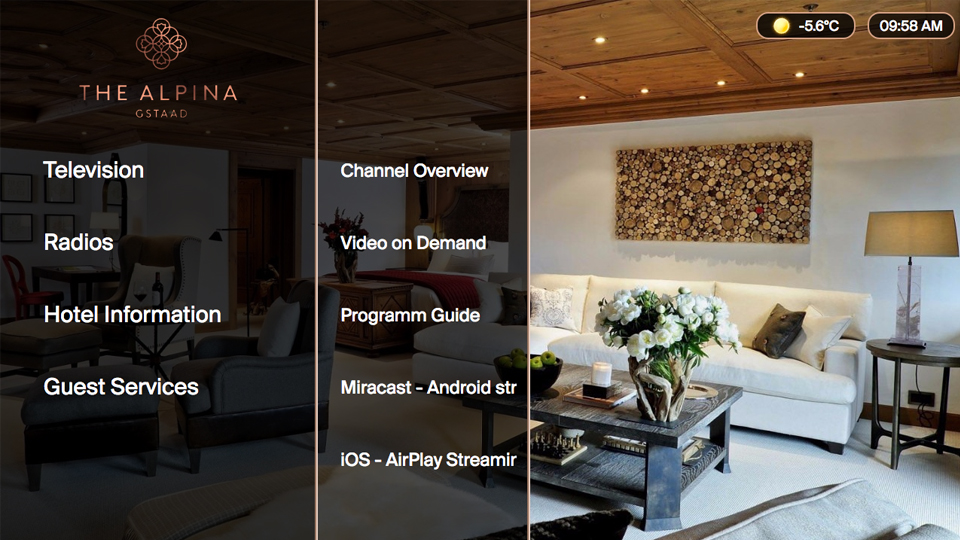 Alpina Gstaad Offers ONEsquare Hotel TV Atvisions GmbH - Hotel alpina gstaad